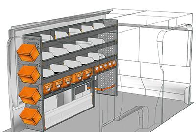 Aménagement Expert Peugeot M 2016 L2 avec bacs