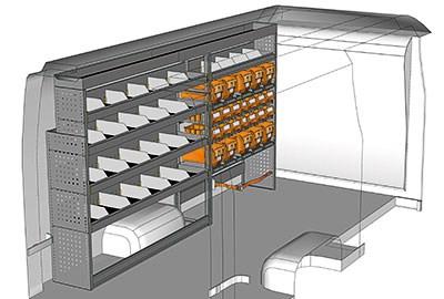 Aménagement NV400 Nissan L3 Propulsion côté gauche