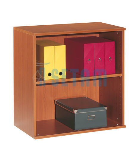 armoire bureau basse ouverte coloris merisier bas 1 tablette. Black Bedroom Furniture Sets. Home Design Ideas
