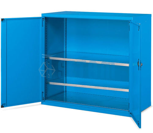 Armoire grand volume à portes battantes coloris bleu