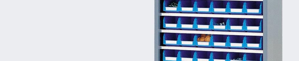 armoire moyenne porte bacs armoire stockage bac sans portes. Black Bedroom Furniture Sets. Home Design Ideas