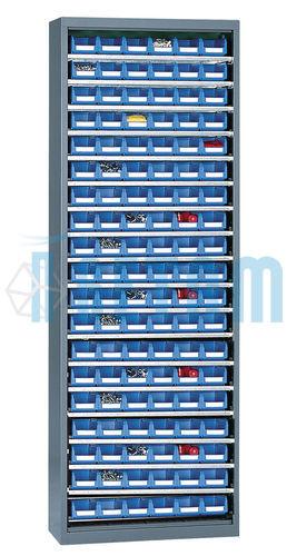 Armoire Porte Bacs Haute Sans Porte Avec 114 Bacs 1 Litre Setam