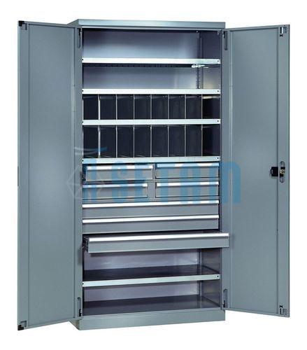 armoire professionnelle avec casiers et 7 tiroirs armoire métallique ...