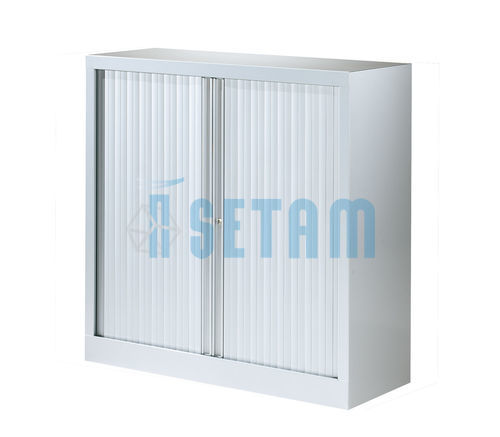 armoire rideau basse coloris aluminium mm setam. Black Bedroom Furniture Sets. Home Design Ideas