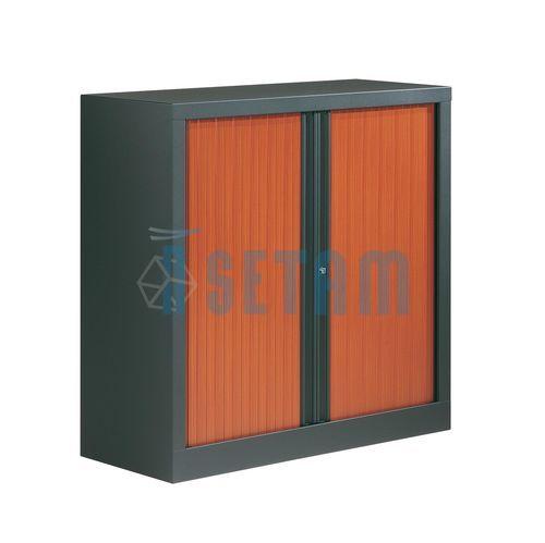 armoire rideau basse merisier corps anthracite mm. Black Bedroom Furniture Sets. Home Design Ideas