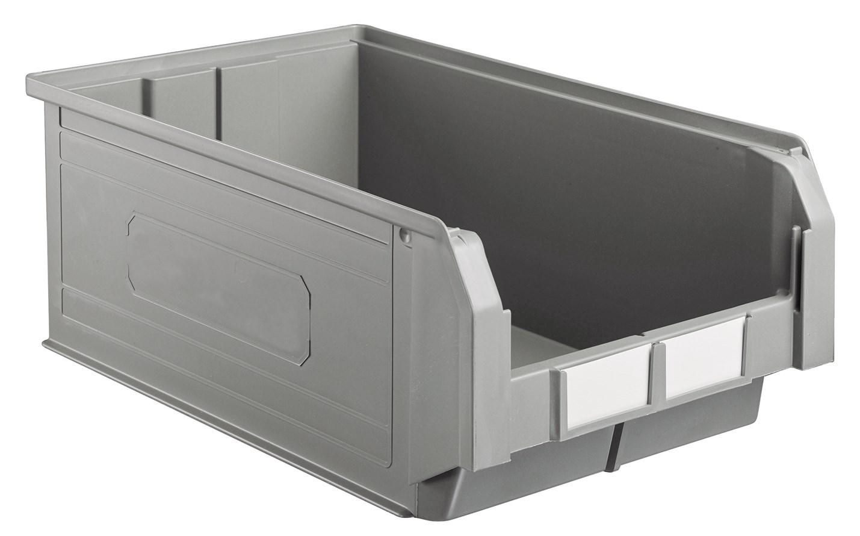 Bac à bec économique en plastique 28 litres gris