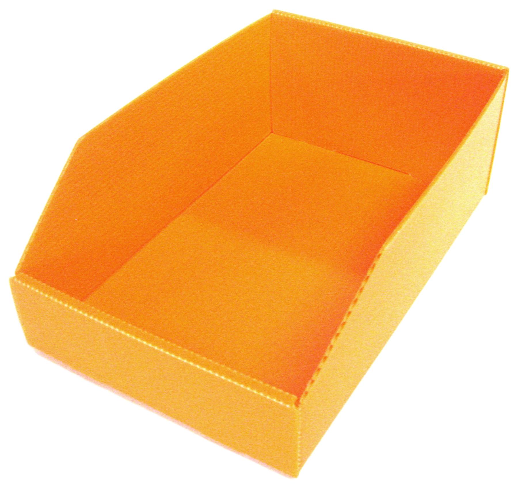 Bac en polypropylène alvéolaire 3.5 litres orange