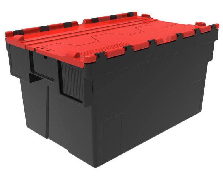 Bac navette 600x400 69L couvercle intégré Rouge