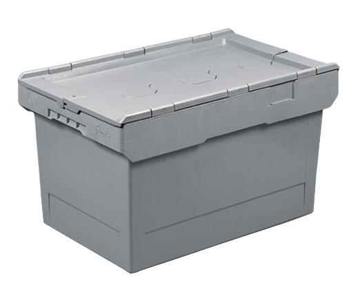 Bac navette avec couvercle croco 58 litres 600x400
