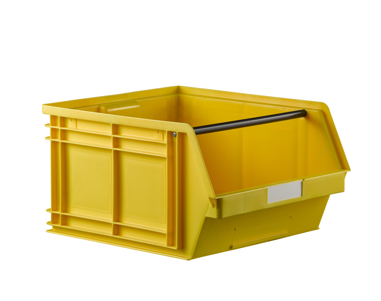 Bac plastique à bec 63 dm3 jaune