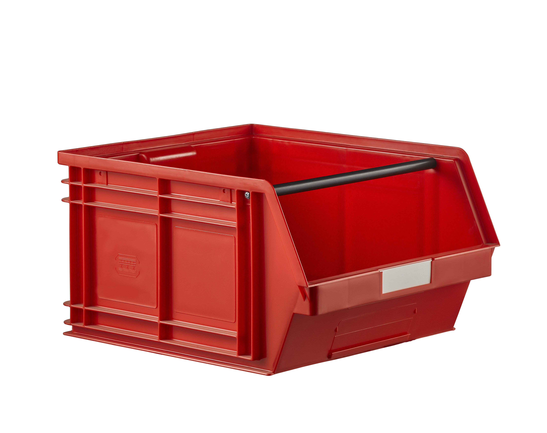 Bac plastique à bec 63 litres rouge