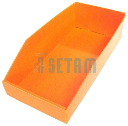 bac plastique akylux 7 litres orange setam. Black Bedroom Furniture Sets. Home Design Ideas
