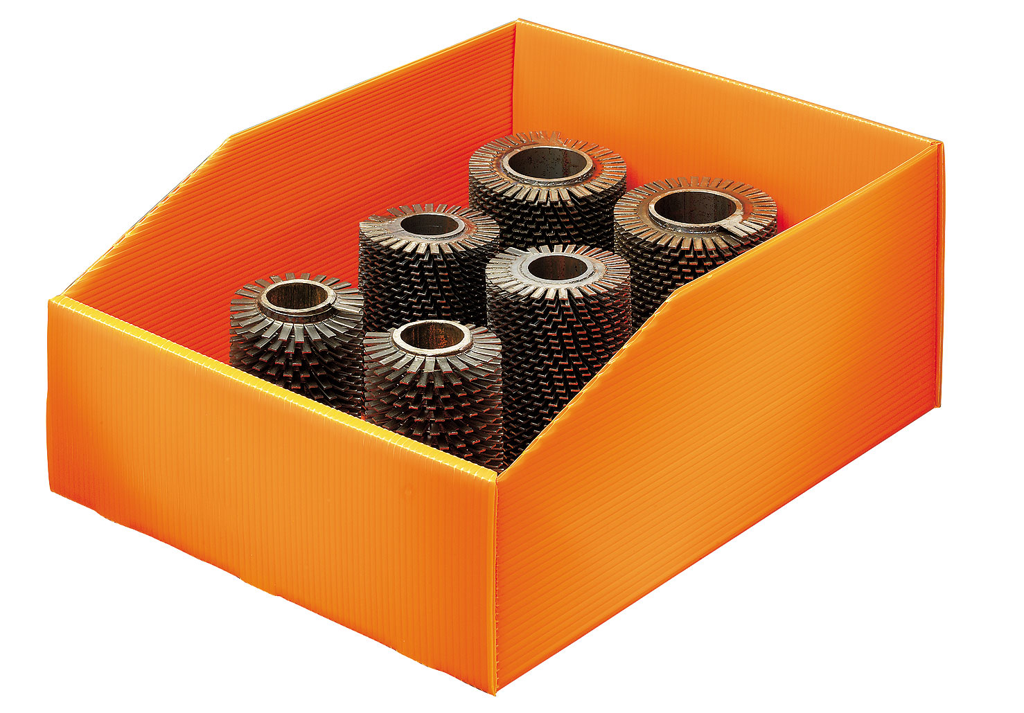 Bac plastique alvéolaire 17 litres orange