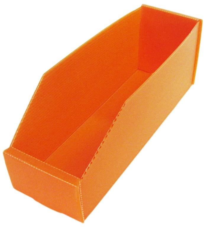 Bac plastique alvéolaire 2.5 litres orange