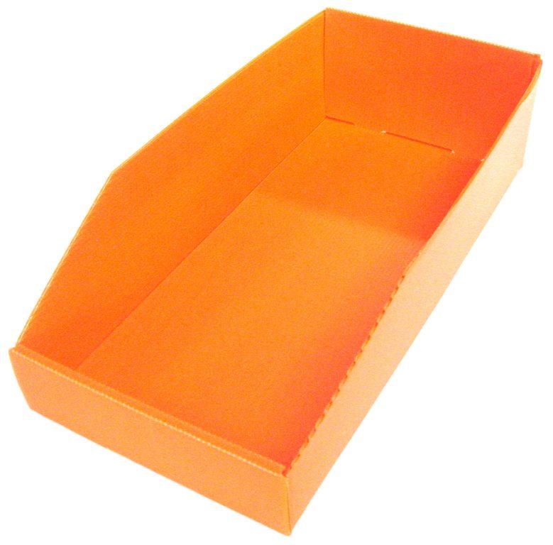 Bac plastique économique 7 litres orange