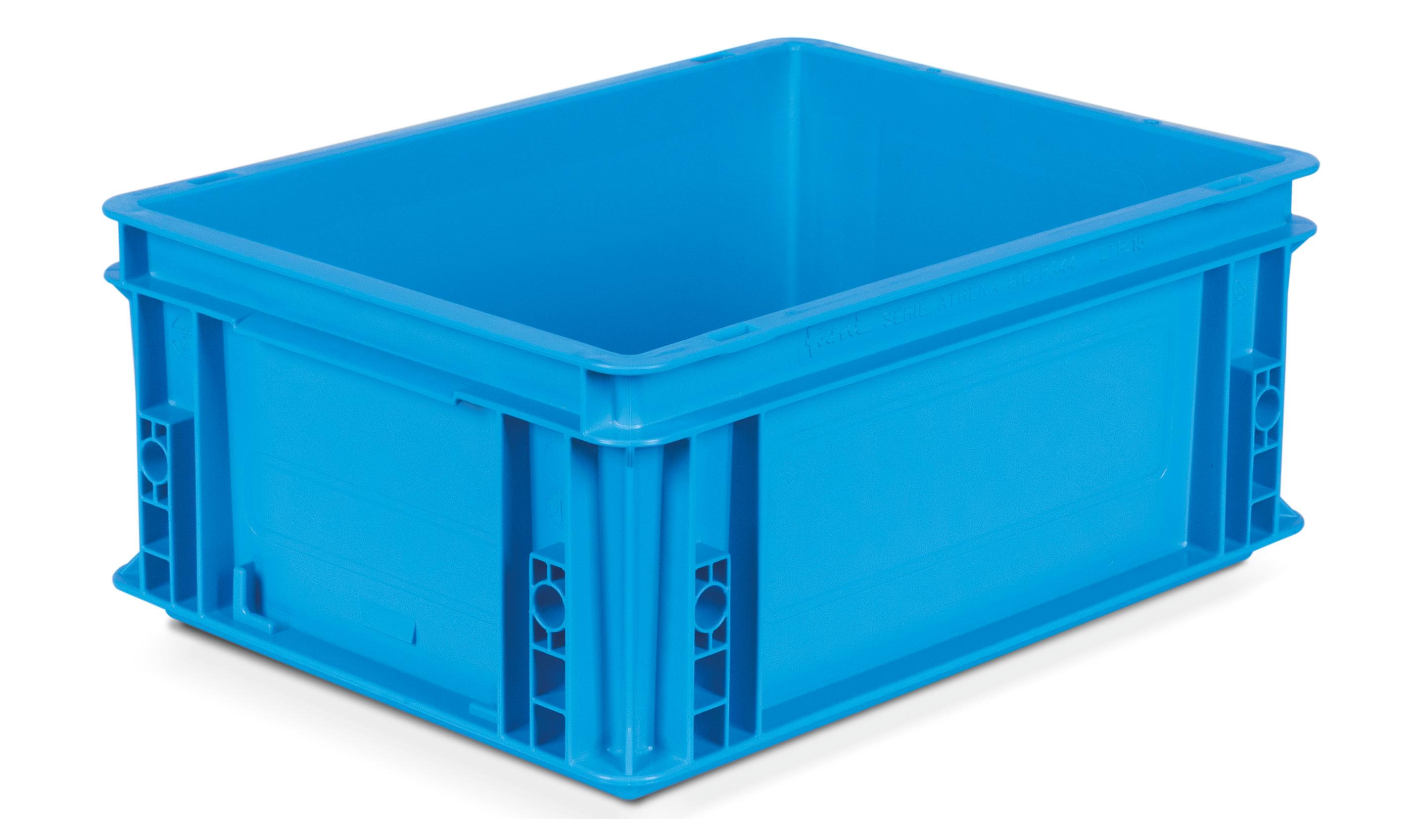 Bac plastique gerbable bleu 400x300 volume 15 litres