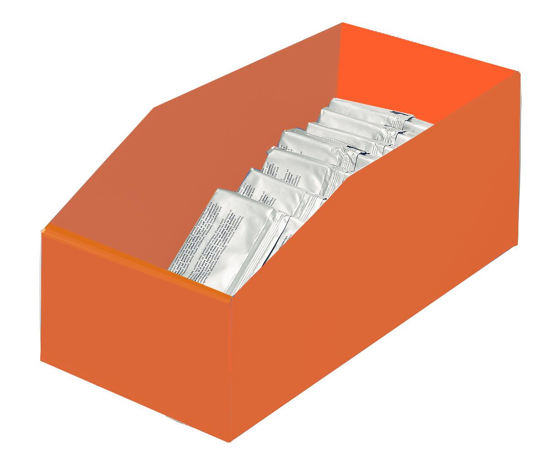 Bac plastique pas cher 13 litres orange