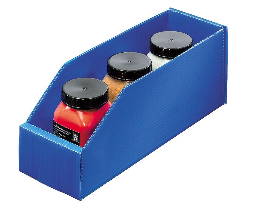 Bac stockage polypropylène alvéolaire 2.5 litres bleu
