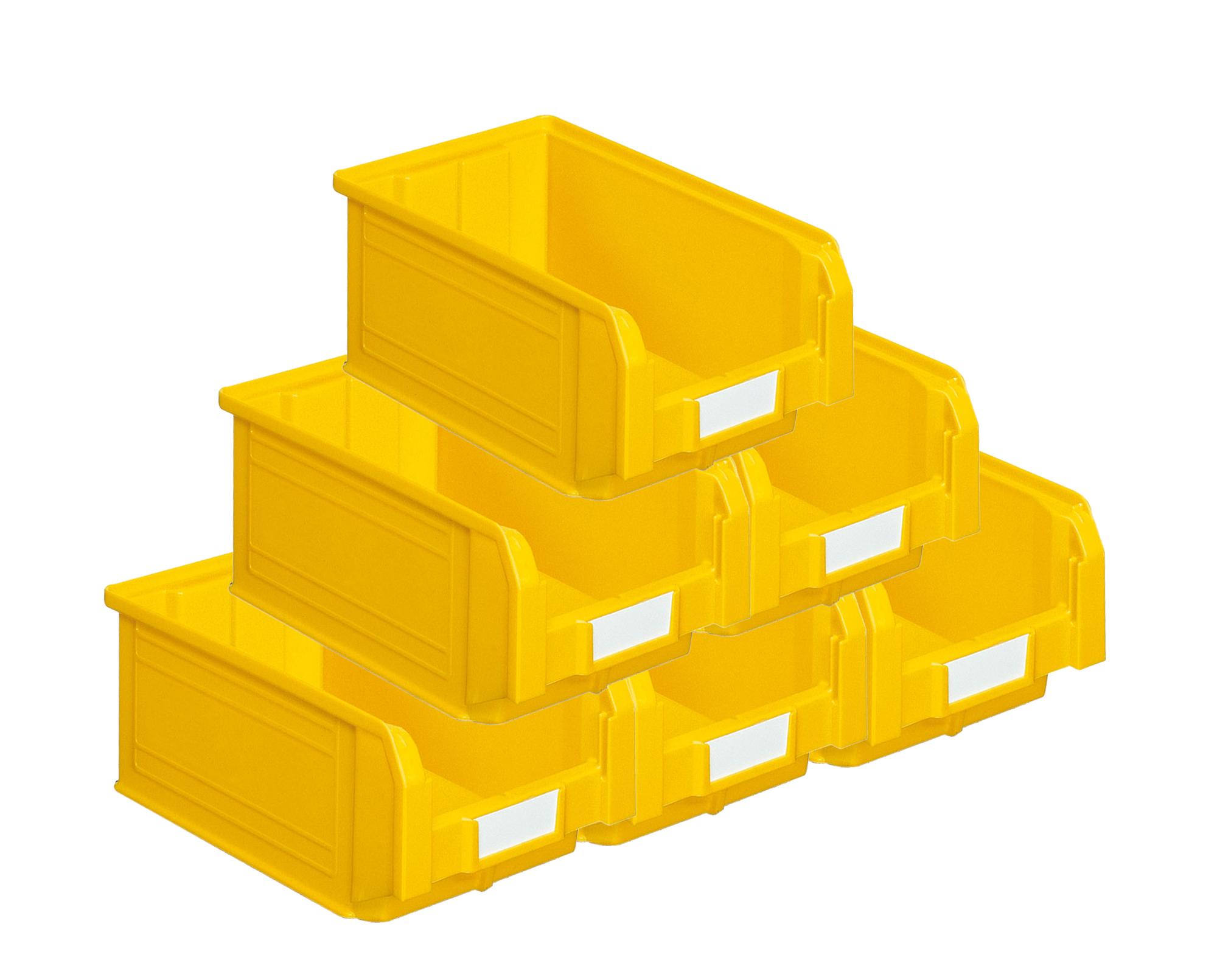 Bacs plastiques à bec 9.4 litres jaune (Lot de 21)