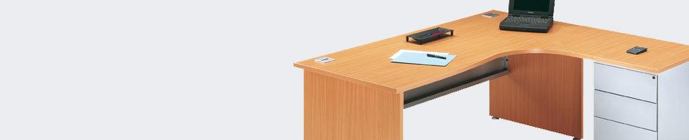 Bureau d 39 angle bureau en l economique avec angle a 90 en bois - Bureau d angle modulable ...