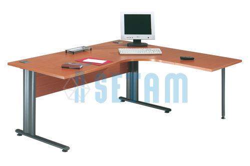 bureau angle merisier x mm avec retour droite. Black Bedroom Furniture Sets. Home Design Ideas