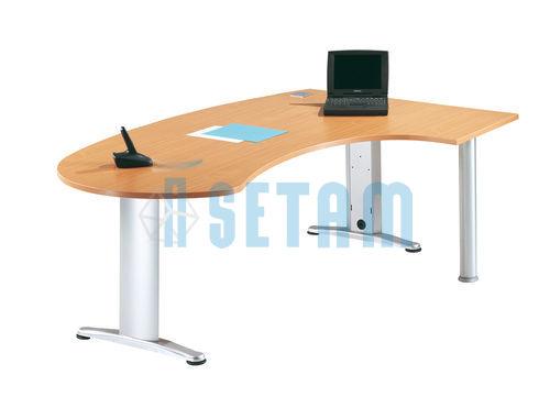 bureau design bureau sesam i h tre alu l2000. Black Bedroom Furniture Sets. Home Design Ideas