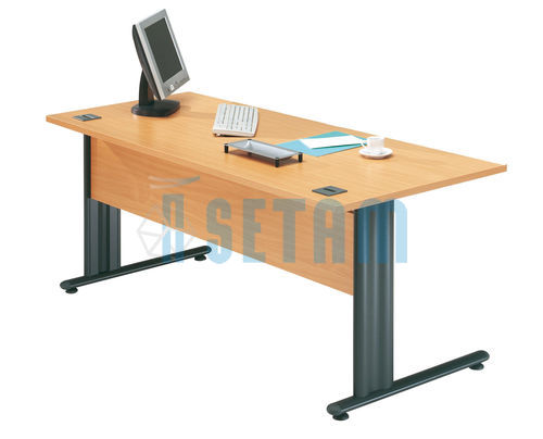 Bureau droit Happy hêtre/anthracite L.800 x P.800 mm