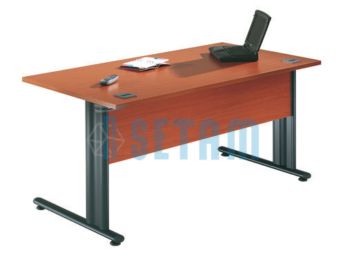 Bureau droit Happy merisier/anthracite L.800 x P.800 mm