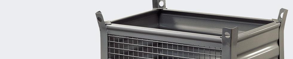 caisse palette metallique conteneur metal. Black Bedroom Furniture Sets. Home Design Ideas