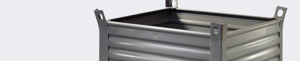caisse palette m tal conteneur metallique en t le pleine. Black Bedroom Furniture Sets. Home Design Ideas