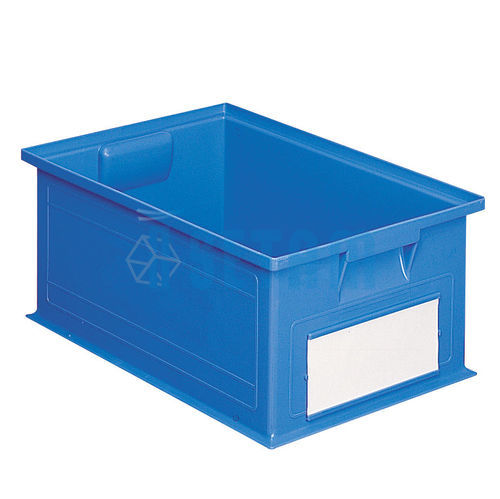 caisse plastique 27 litres bleu setam. Black Bedroom Furniture Sets. Home Design Ideas