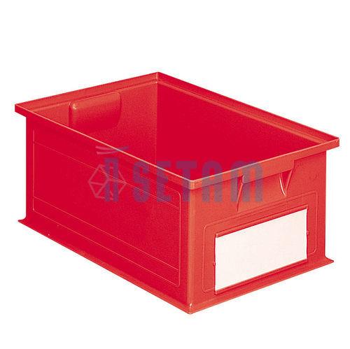 caisse plastique 27 litres rouge setam. Black Bedroom Furniture Sets. Home Design Ideas