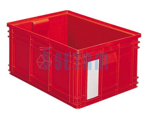 caisse plastique 85 litres rouge setam. Black Bedroom Furniture Sets. Home Design Ideas