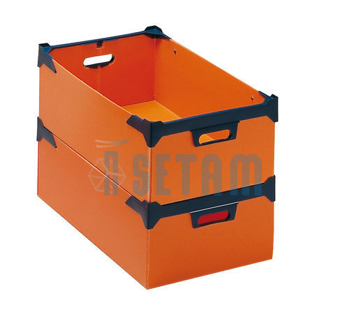 caisse plastique akylux 28 litres orange setam. Black Bedroom Furniture Sets. Home Design Ideas