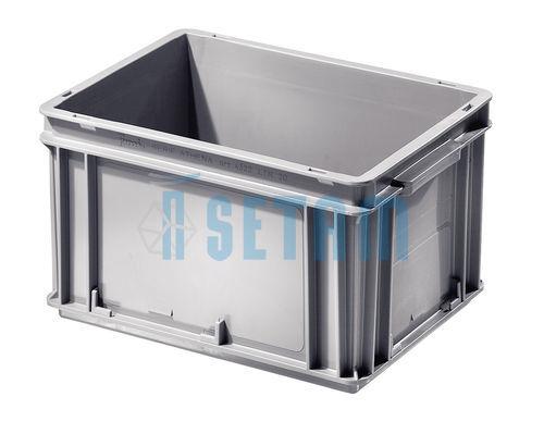 caisse plastique europe 20 litres bac gerbable gris 20l. Black Bedroom Furniture Sets. Home Design Ideas