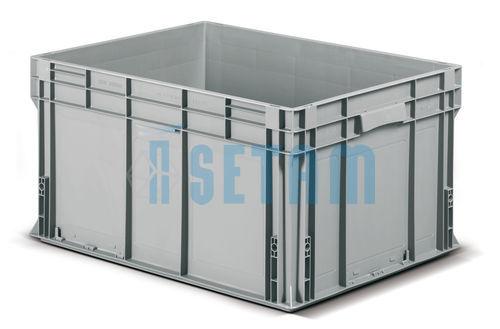 caisse 175 litre bac plastique athena grand volume gris. Black Bedroom Furniture Sets. Home Design Ideas