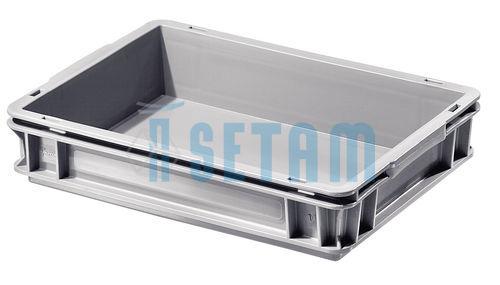caisse plastique 6 litres caisse rangement ath na grise 6l. Black Bedroom Furniture Sets. Home Design Ideas