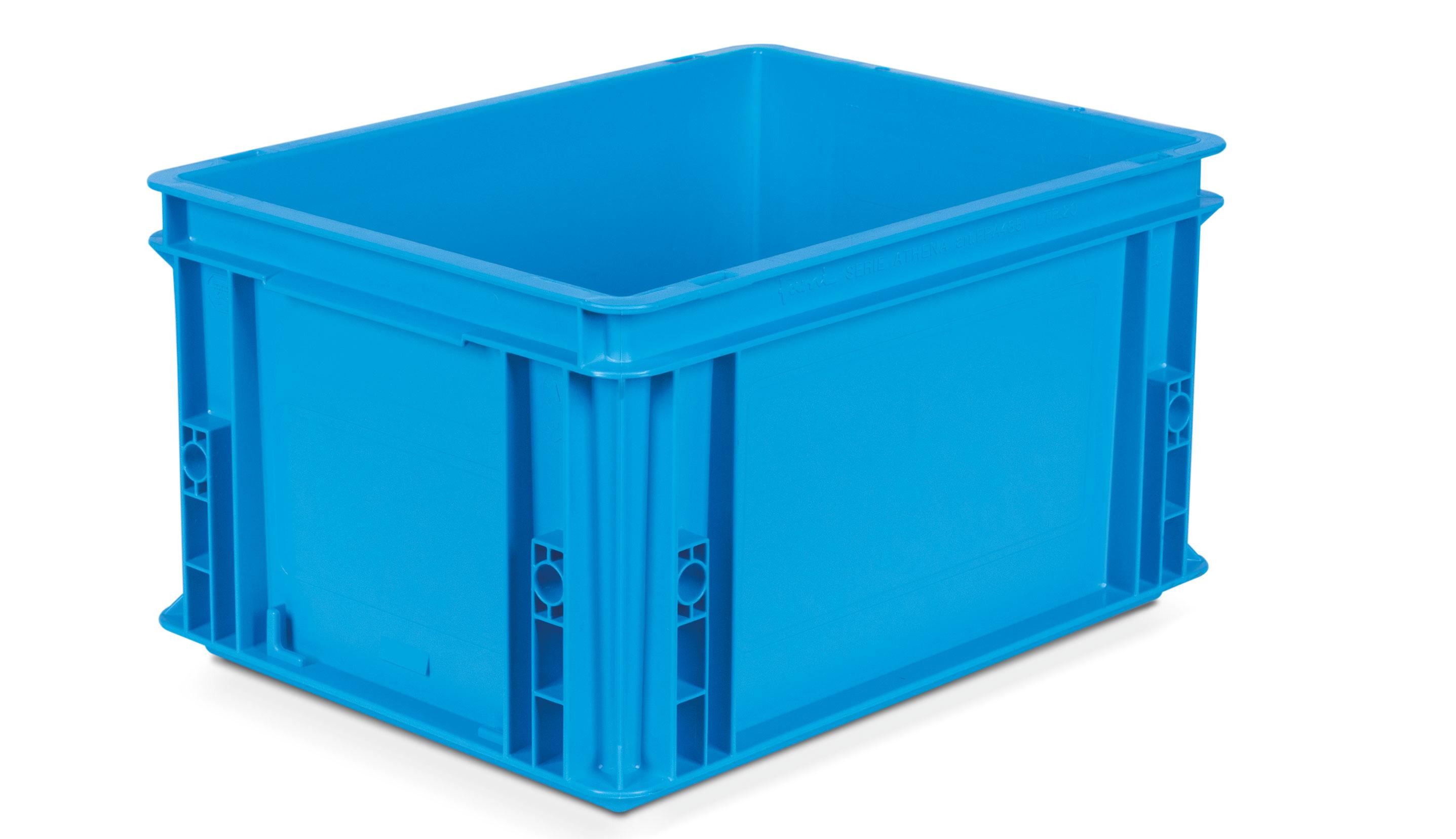 Caisse plastique Bleu 400x300 volume 20 litres