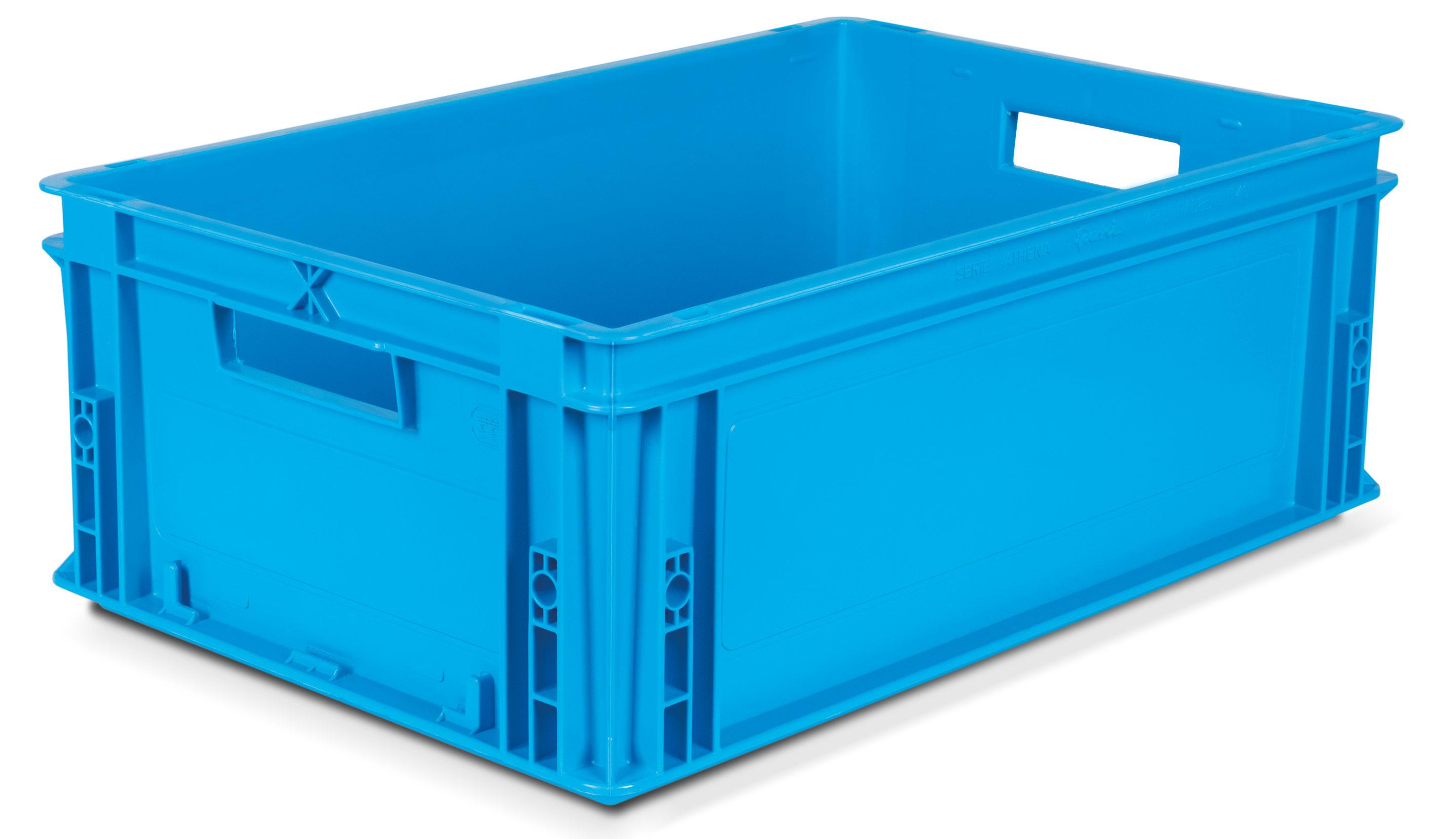 Caisse plastique Bleu gerbable volume 40 litres