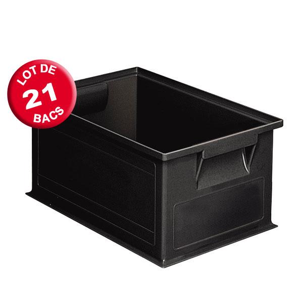 Caisse plastique ESD volume 8.7 litres (lot de 21)