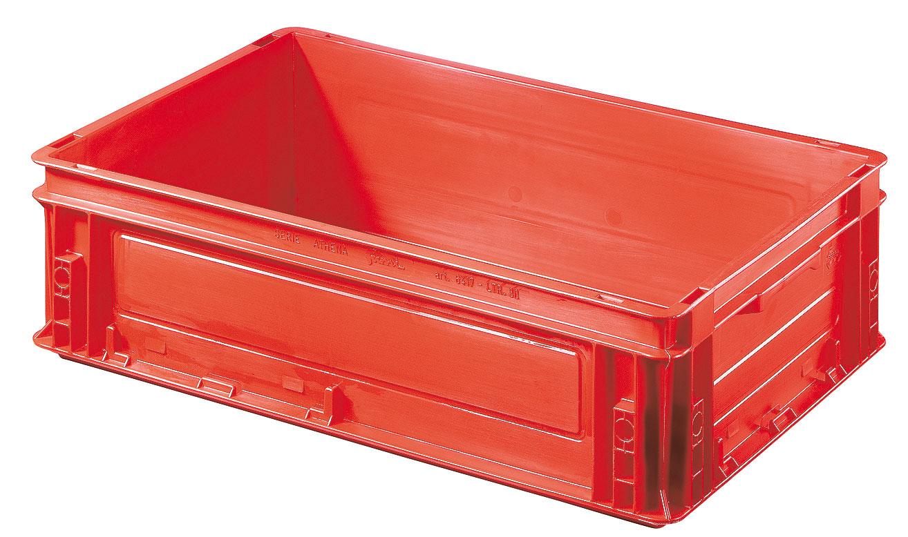 Caisse plastique rouge 30 litres