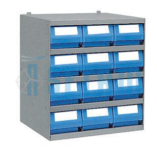 casier 12 bacs tiroirs plastique multibox profondeur 300. Black Bedroom Furniture Sets. Home Design Ideas
