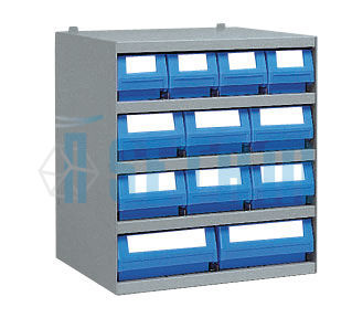 casier 4 bacs tiroirs plastique multibox x mm 6 en 2 en mm setam. Black Bedroom Furniture Sets. Home Design Ideas
