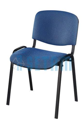 chaise de r union leo en tissu bleu setam. Black Bedroom Furniture Sets. Home Design Ideas