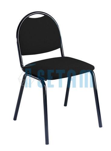 chaise reunion chaise visiteur atlanta en tissu noir. Black Bedroom Furniture Sets. Home Design Ideas