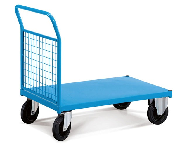 Chariot avec dossier grillagé métallique force 500 kg