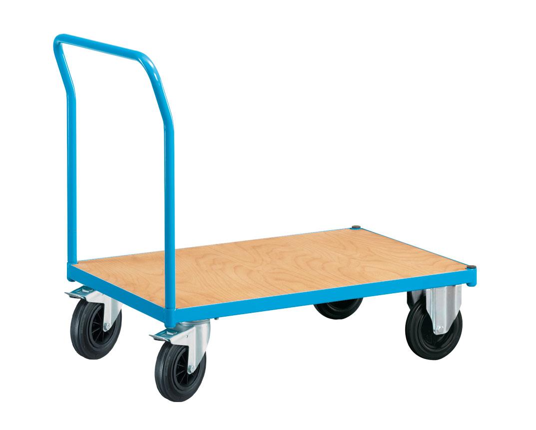Chariot manutention à plateau bois et dossier fixe 250 kg