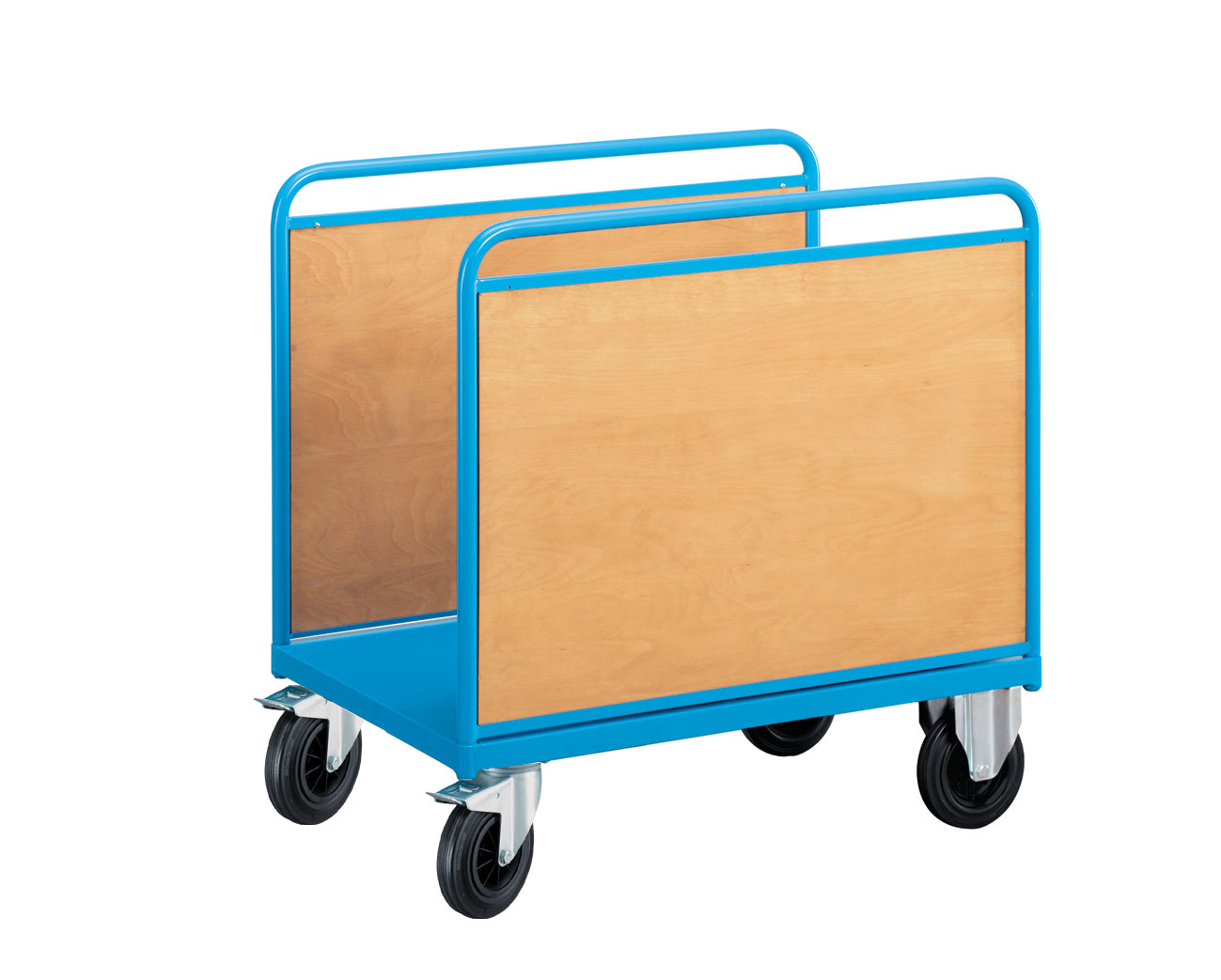 Chariot manutention avec 2 parois pleines 500 kg