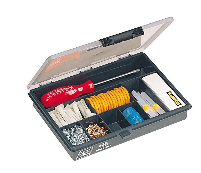 Coffret 9 cases plastique porte outils
