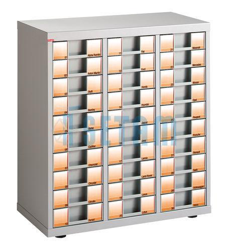 Meuble classement courrier plat 30 tiroirs tp9 for Les meubles a tiroirs plats